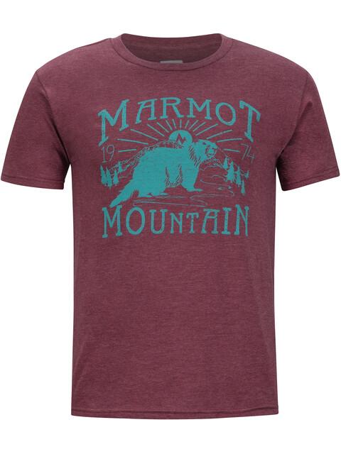Marmot Sunrise Bluzka z krótkim rękawem Mężczyźni czerwony